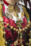 CAGLIARI, ITÁLIA - 1º de maio de 2013: Procissão 357 religiosa do ` Efisio - Sardinia de Sant Imagens de Stock Royalty Free