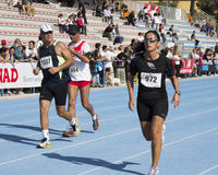 CAGLIARI, ITÁLIA - 4 de novembro de 2012: 5a maratona da metade - 4o Delio memorável Serra - Sardinia Fotos de Stock Royalty Free