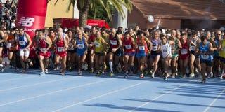 CAGLIARI, ITÁLIA - 11 de novembro: Meia maratona 2012 - Sardinia Fotos de Stock Royalty Free