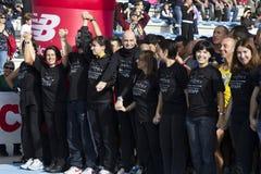 CAGLIARI, ITÁLIA - o 4 de novembro 2012: meia maratona de 5 ^ Fotos de Stock