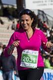 CAGLIARI, ITALIË - December 7, 2014: 7 ^ Halve Marathon - Herdenkingsdelio Serra - Sardinige Stock Fotografie