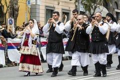 CAGLIARI, ITALIË - Mei 1, 2016: 360 ^ Feest van Heilige Efisio - Sardinige Royalty-vrije Stock Afbeeldingen