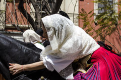 CAGLIARI, ITALIË - Mei 1, 2016: 360 ^ Feest van Heilige Efisio - Sardinige Royalty-vrije Stock Fotografie