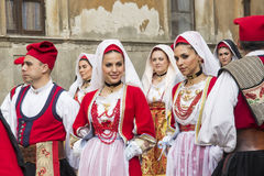CAGLIARI, ITALIË - Mei 1, 2013: 357 ^ Godsdienstige Optocht van Sant'Efisio - Sardinige Royalty-vrije Stock Afbeelding