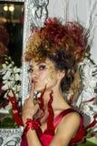 CAGLIARI, ITALIË - November 22, 2015: Ontdekking Extro (manier, haar en make-up) bij Fiera-Di Cagliari - Sardegna Stock Foto's