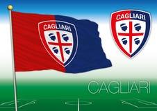 CAGLIARI, ITALIA, AÑO 2017 - campeonato del fútbol de Serie A, bandera 2017 del equipo de Cagliari