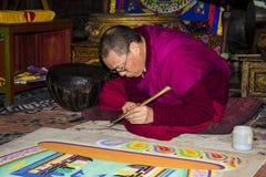 CAGLIARI, ITALIA - 2 febbraio 2012: Royal Palace, la mostra Tibet, mistero e la Sardegna luminosa fotografia stock libera da diritti