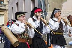 CAGLIARI, ITALIA - 1° maggio 2013: Processione religiosa 357 del ` Efisio - Sardegna di Sant Fotografia Stock