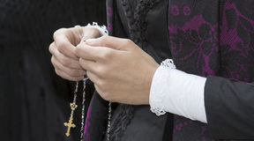 CAGLIARI, ITALIE - 1er mai 2014 : cortège religieux de 358 ^ de Sant'Efisio - la Sardaigne Photo stock