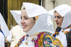 CAGLIARI, ITALIE - 1er mai 2013 : Cortège 357 religieux de ` de Sant Efisio - Sardaigne Photos stock