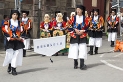 CAGLIARI, ITALIE - 1er mai 2013 : Cortège 357 religieux de ` de Sant Efisio - Sardaigne Image libre de droits