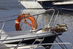 CAGLIARI ITALIEN - April 17, 2014: Turist- port av Marina Piccola - Sardinia Royaltyfri Foto