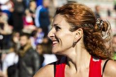 CAGLIARI ITALIEN - DECEMBER 7, 2014: 7th halvamaraton - minnes- Delio Serra - Sardinia Royaltyfria Bilder