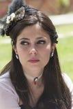 CAGLIARI ITALIEN - Juni 1, 2014: söndag på La stora Jatte, offentliga trädgårdar - Sardinia Royaltyfri Foto