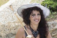 CAGLIARI ITALIEN - Juni 1, 2014: söndag på La stora Jatte, offentliga trädgårdar - Sardinia Royaltyfria Foton