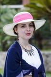 CAGLIARI ITALIEN - Juni 1, 2014: söndag på La stora Jatte, offentliga trädgårdar - Sardinia Royaltyfri Fotografi