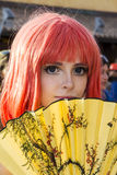 CAGLIARI, ITALY - August 9, 2015: Lost in Cosplay at the former glassworks Pirri - Sardinia Royalty Free Stock Photos