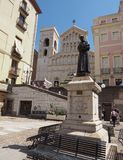 St Francis of Assisi statue in Cagliari Stock Photo