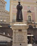 St Francis of Assisi statue in Cagliari Royalty Free Stock Photo