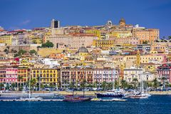 Cagliari, Italy Cityscape Royalty Free Stock Photography