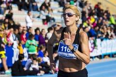 CAGLIARI, ITALY - December 7, 2014: 7 Half Marathon - Memorial Delio Serra - Sardinia Stock Photos