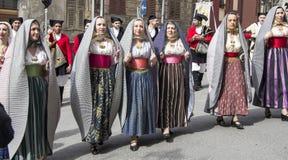 CAGLIARI, ITALY - May 1, 2013: 357 Religious Procession of Sant`Efisio - Sardinia