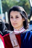 Medieval group of Iglesias. CAGLIARI, ITALY - OCTOBER 28, 2017: Invitas, Sardinia of traditions, performances and food, at the Molo Sanità. Society of Medieval Royalty Free Stock Image