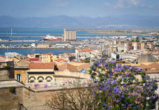 Cagliari Marina panorama Stock Photography