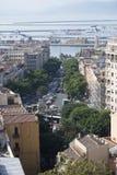 Cagliari mitt Arkivfoton