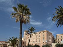 Cagliari, Palazzo Boyle, Sardinia, Italy Stock Images