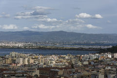 Cagliari. Panorama view of the city Stock Photos
