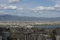 Cagliari. Panorama view of the city Royalty Free Stock Photos