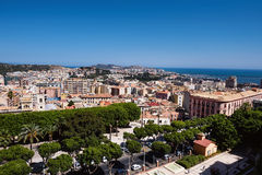 Cagliari panoramic view Royalty Free Stock Photos