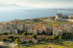 Cagliari, pescatore Village di Sant'Elia Fotografia Stock Libera da Diritti