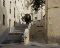 Cagliari - Piazza San Sepolcro Stock Foto's