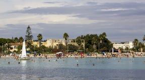 Cagliari: Praia de Poetto Imagens de Stock Royalty Free