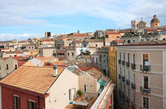 Cagliari rooftop Stock Images