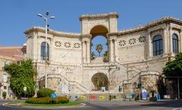 Cagliari sardinia, Italien, Europa, fyrkant av konstitutionen royaltyfri fotografi