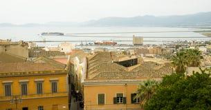 Cagliari, Sardinia, Italy. Urban landscape of the sardinian capital Stock Photos