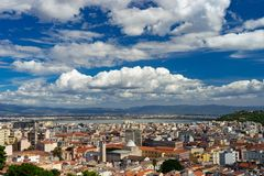 Cagliari, Sardinia, Italy cityscape from the top royalty free stock photography