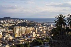 Cagliari: stadsmeningen Royalty-vrije Stock Foto