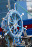 Cagliari: Steuer eines alten Bootes - Sardinien Lizenzfreies Stockfoto