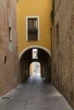 Cagliari - straat van Fossario Stock Afbeelding