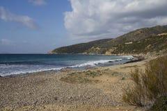 CAGLIARI: Strandzuiden van Sardinige - pintauoverzees Royalty-vrije Stock Foto's