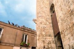 Cagliari, torre do elefante Fotos de Stock Royalty Free