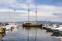 Cagliari: tourist port of Marina Piccola Stock Image