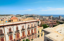 Cagliari under a blue sky Royalty Free Stock Image