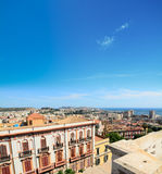 Cagliari under a blue sky Stock Image