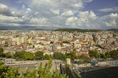 Cagliari van hierboven royalty-vrije stock foto's