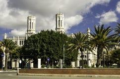 Cagliari, via roma street and city hall Stock Photo